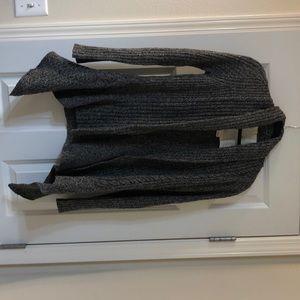 Anthropologie grey knit cardigan